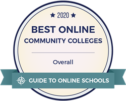 2020 Best Online Community Colleges in Pennsylvania badge