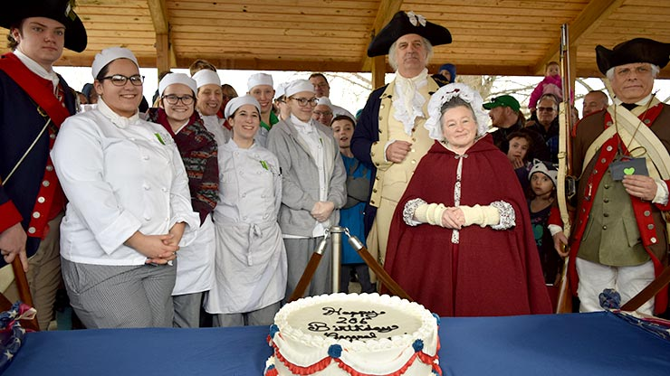 General George Washington Celebrates His 286th Birthday With A Cake Made By Montgomery County Community Colleges