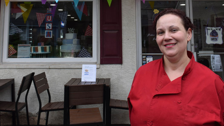 Jacqueline Ramos opened her business, Jacquie's Pastry Café, in Hatfield.