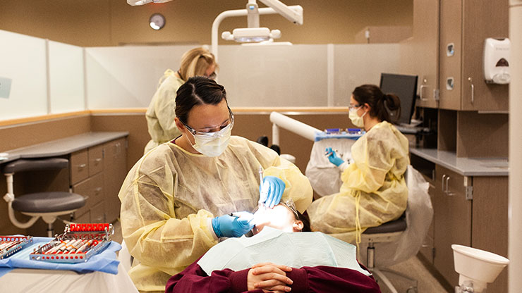 Students of the Montgomery County Community College Dental Program learn and refine dental techniques. Photo by Seth Shimkonis