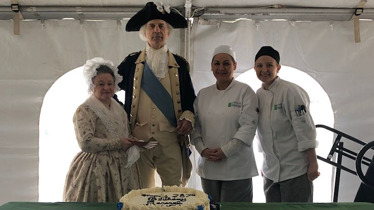 CAI Students Use Martha Washingtons Original Recipe To Bake A Cake For General George 287th