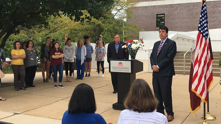 State Rep. Joseph Ciresi spoke at MCCC's West Campus in Pottstown about the tragic events of 9/11, the heroism of the first responders and those who lost their lives.