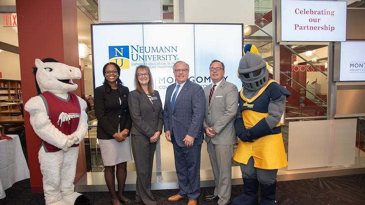 Neumann University will offer an online degree completion program for a Bachelor of Science in Public Safety Administration through Montgomery County Community College's University Center. Photo by Linda Johnson