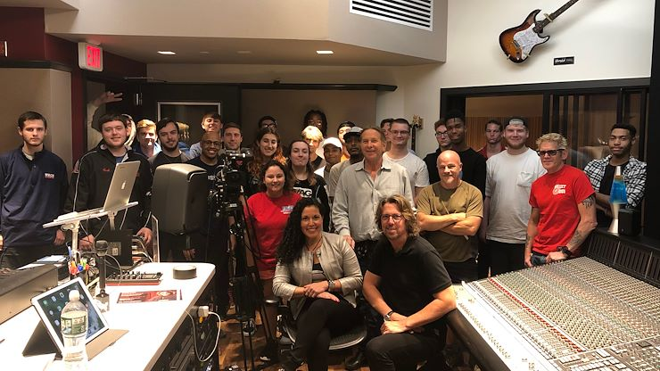 Merch Cat founder, Vanessa Ferrer, visited the Mix Room at Montco for the first Master Class of the Fall 2019 semester.