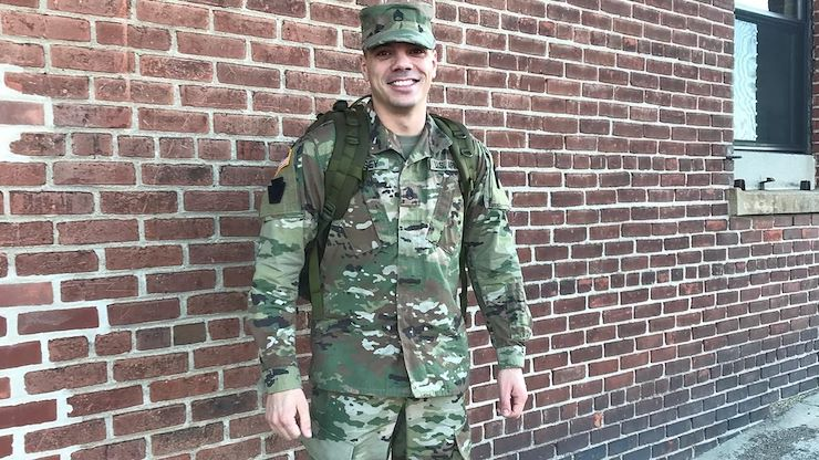 Joel Bergey, a nursing program alum, is fighting COVID-19 on the front lines in the Pennsylvania Army National Guard.