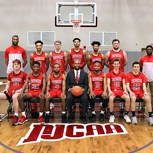 The 2019-2020 Mustangs Men's Basketball team.